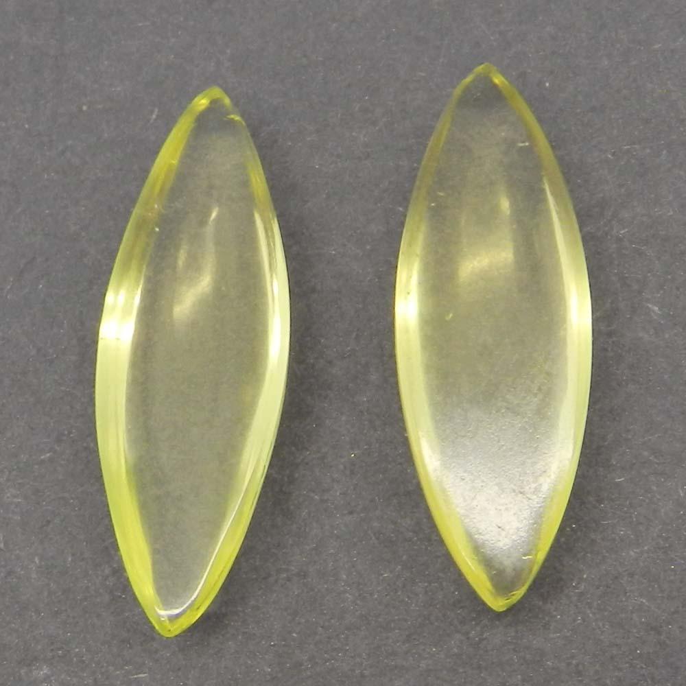 Lemon Quartz 30x10mm Marquise Cabochon 13.1 Cts