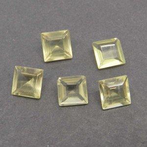 Lemon Quartz 7x7mm Square Cut 1.46 Cts