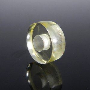 Lemon Quartz Big Hole Roundel Smooth Plain Beads 14x8x5.5mm