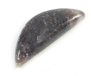 Lepidolite Jasper 20x7mm Half Moon Fancy Cabochon 4.75 Cts