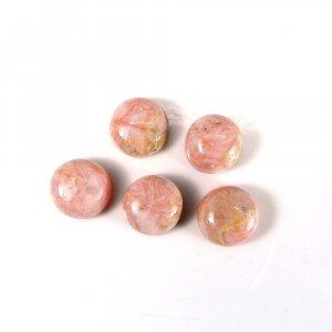 Light Weight Gemstone Rhodochrosite 9mm Round Cabochon 4.40 Cts