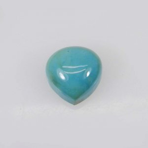 Light Wieght Gemstone American Turquoise 10x10mm Heart Cabochon 4.25 Cts
