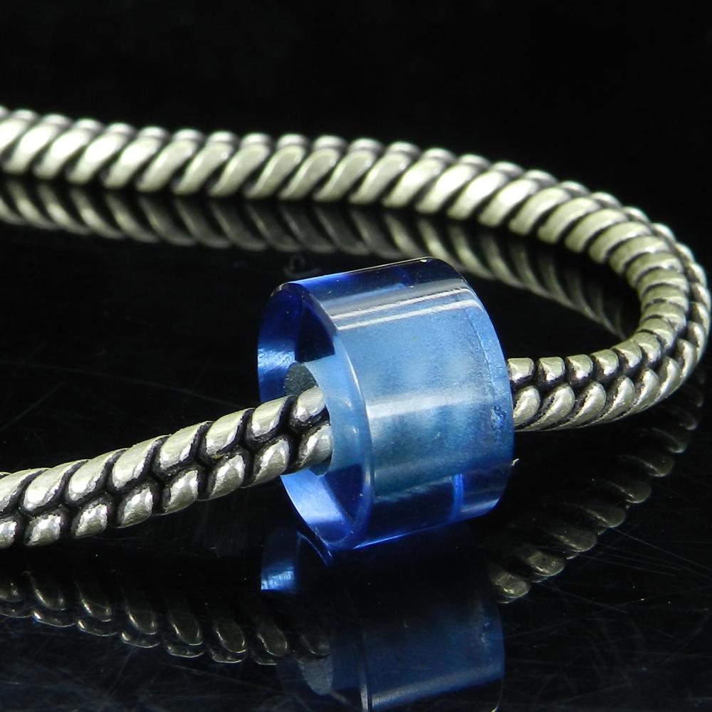 London Blue Topaz 14x8x5mm Round Flat Beads