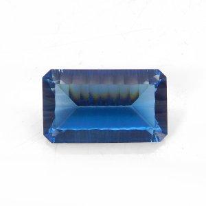 London Blue Topaz Hydro 25x15mm Rectangle Concave Cut Gemstone