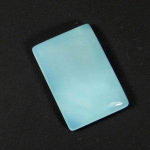 Loose Gemstone Aqua Chalcedony 24x16mm Rectangle Cabochon 18.60 Cts