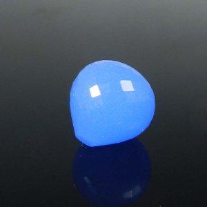 Loose Gemstone Blue Chalcedony Onion Checker Cut 15mm Round 20.95 Cts