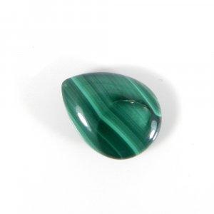 Loose Gemstone Malachite 16x12mm Pear Cabochon 12.70 Cts