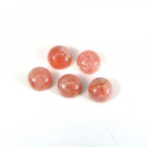 Lovely Gemstone Rhodochrosite 7mm Round Cabochon 2.05 Cts