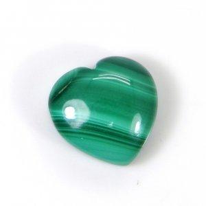 Malachite 13x13mm Heart Cabochon 14.95 Cts