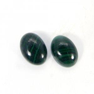 Malachite 14x10mm Oval Cabochon 9.30 Cts