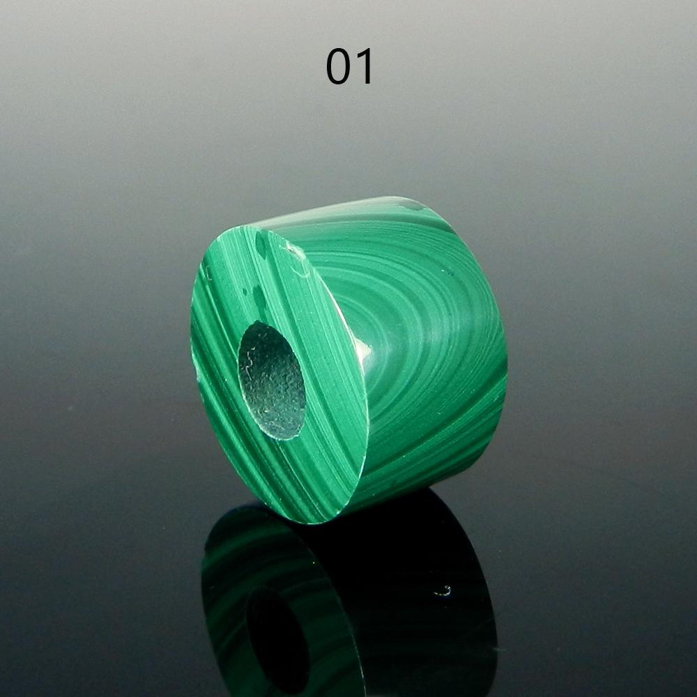 Malachite 14x8x5mm Round Flat Beads