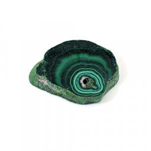 Malachite Slab 43.20 Cts Freeform Flat 27x23mm Loose Gemstone