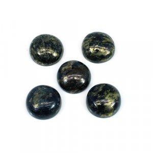 Marcasite Pyrite Gemstone Round Cabochon 10mm 4.10 Cts