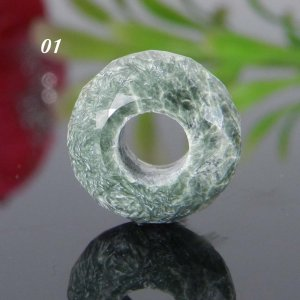Maw Sit Sit Big Hole Roundel Faceted Troll Beads 14x8x5.5mm