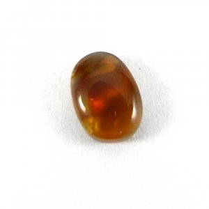 Mexican Fire Opal 12x9mm Fancy Cabochon 3.9 Cts