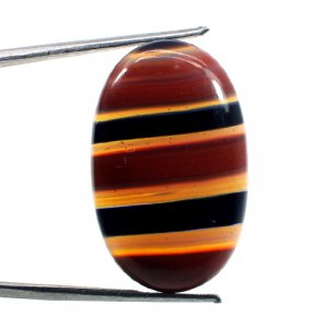 Mexican Glass Oval Cabochon 28x18mm 27.15Cts