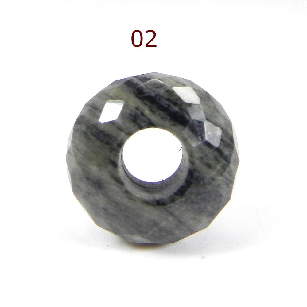 Moftail Jasper 14x8x5mm Roundel Facet Beads