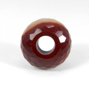 Mookaite Jasper Big Hole Roundel Faceted Beads 14X8X5.5mm