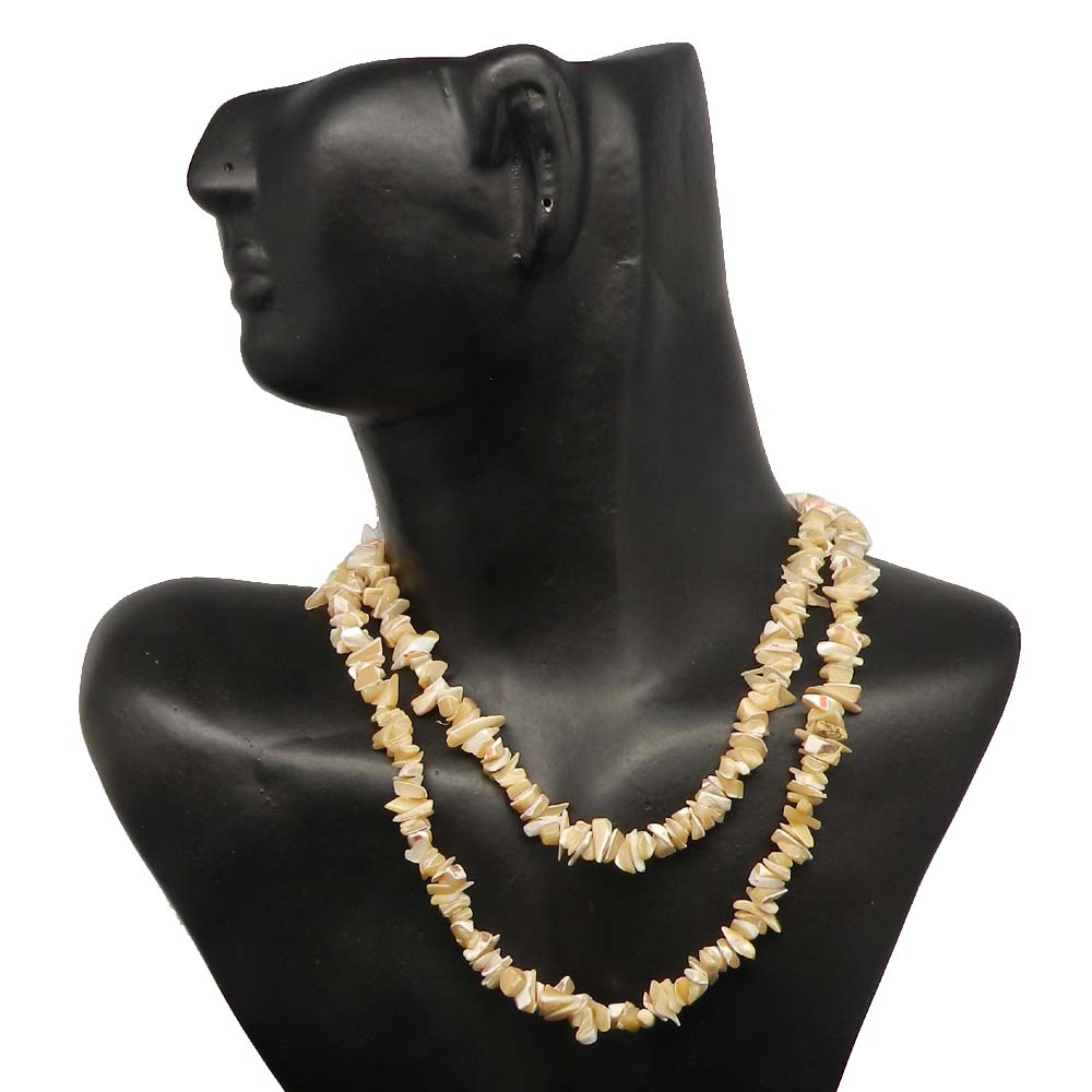 Mother of Pearl 9-11mm Approx 36 Inch Length Chips Strand Beads
