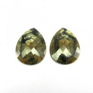Multi Sapphire 31x23mm Pear Checker Cut 30.2 Cts