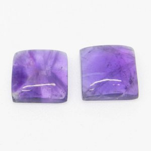 Natural African Amethyst 11x11mm Square Cabochon 6.2 Cts