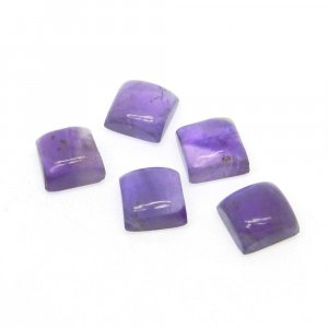 Natural African Amethyst 7x7mm Square Cabochon 1.88 Cts