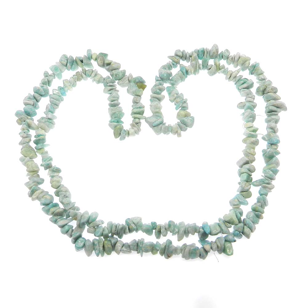 Natural Amazonite 5-6mm Approx 36 Inch Length Chips Strand Beads