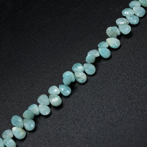 Natural Amazonite 6x4mm Pear Briolette Cut  Beads 8 Inch Strand
