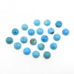 Natural American Turquoise 4mm Round Cabochon 0.25 Cts