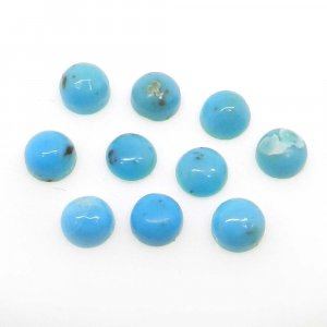 Natural American Turquoise 5mm Round Cabochon 0.5 Cts