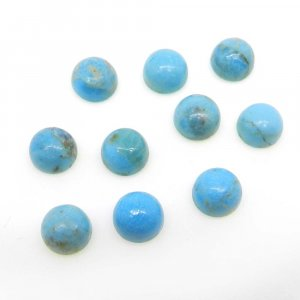 Natural American Turquoise 6mm Round Cabochon 0.95 Cts