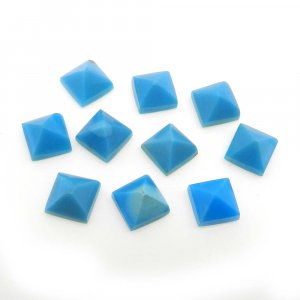 Natural American Turquoise 6x6mm Square Pyramid Cabochon 1.25 Cts
