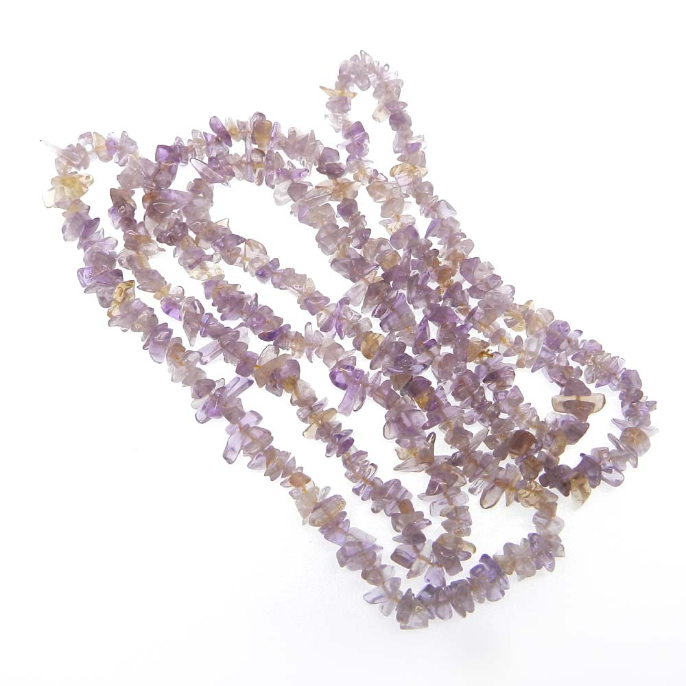 Natural Ametrine 5-6mm Approx 34 Inch Length Chips Strand Beads