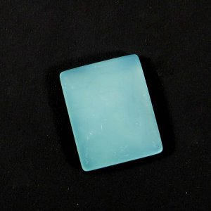 Natural Aqua Chalcedony 17x14mm Rectangle Cabochon 12.75 Cts