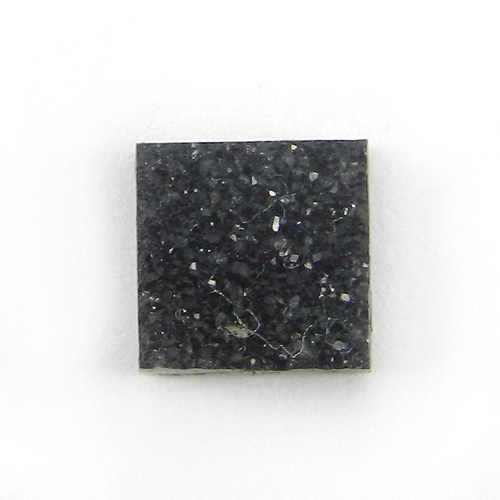 Natural Black Druzy 8x8mm Square 2.8 Cts