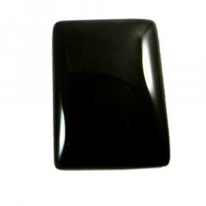 Natural Black Jet 25x17mm Rectangle Cabochon 26.25 Cts