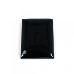 Natural Black Jet Gemstone Rectangle Cabochon 35x26mm 64.60 Cts