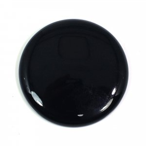 Natural Black Onyx 40mm Round Cabochon 89 Cts