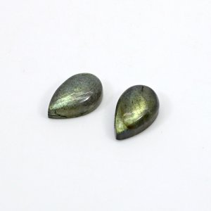 Natural Blue Fire Labradorite 13x8mm Pear Cabochon 8.65 Cts 1 Pair Loose Gemstone