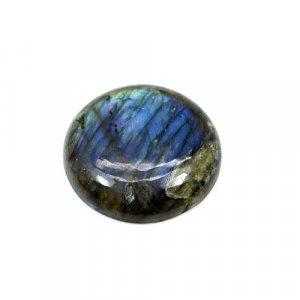Natural Blue Fire Labradorite 23mm Round Cabochon 27.20 Cts Loose Gemstone
