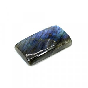 Natural Blue Fire Labradorite 32x17mm Rectangle Cabochon 47.95 Cts Loose Gemstone