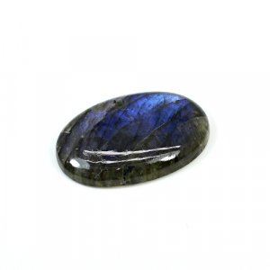 Natural Blue Fire Labradorite 32x22mm Oval Cabochon 31 Cts Loose Gemstone