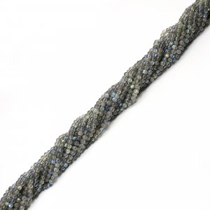 Natural Blue Fire Labradorite 3mm Round Smooth Beads 13 Inch Strand