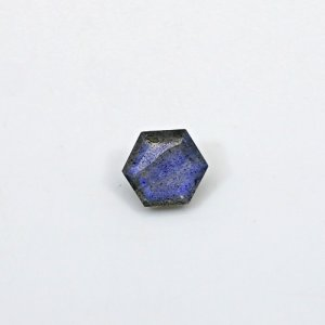 Natural Blue Fire Labradorite 8x8mm Hexagon Cut 2 Cts Loose Gemstone