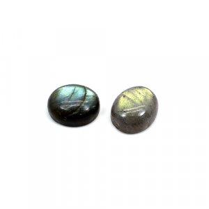 Natural Blue Flashy Labradorite 10.70 Cts Oval Cabochon 12x10mm 1 Pair Loose Gemstone