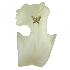 Natural Blue Flashy Labradorite Gemstone Earring Butterfly Filigree Earring