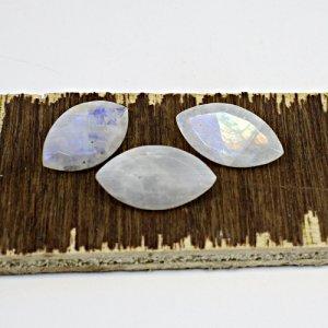 Natural Blue Flashy Rainbow Moonstone 22x12mm Marquise Cut 31.65 Cts 3 Pcs Lot Loose Gemstone