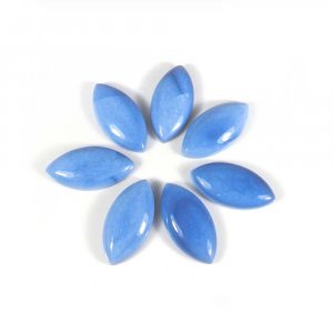 Natural Blue Opal Gemstone 15x30mm Marquise Cabochon 17.10 Cts