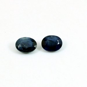 Natural Blue Sapphire 1 Pair Oval Faceted 7x9mm 4.75 Cts Loose Gemstone