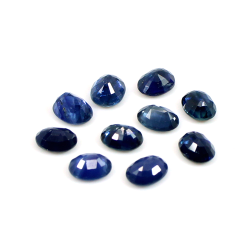 Natural Blue Sapphire Oval Faceted 0.80 Cts 5x4 mm Loose Gemstone